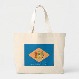 Flag Of Delaware Large Tote Bag