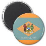 Flag of Delaware Refrigerator Magnet
