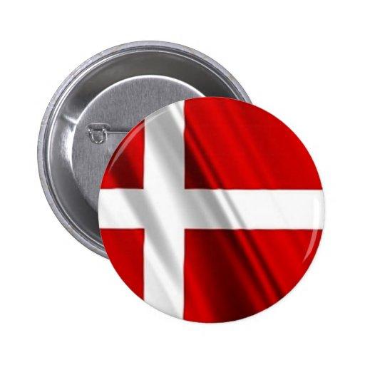 Flag of Denmark 2 Inch Round Button