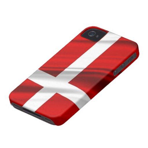 Flag of Denmark iPhone 4 Case-Mate Case