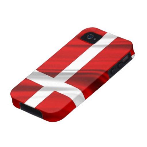 Flag of Denmark iPhone 4 Cover