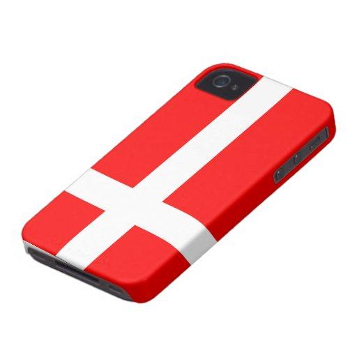 Flag of Denmark Case Mate iPhone 4/4S Cases iPhone 4 Case-Mate Case