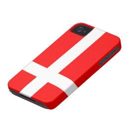 Flag of Denmark Case Mate Tough iPhone 4/4S Cases