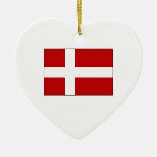 Flag of Denmark Ceramic Ornament