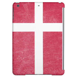 Flag of Denmark Grunge Cover For iPad Air
