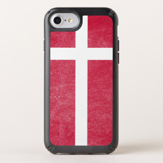 Flag of Denmark Grunge Speck iPhone Case