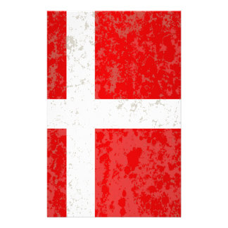 Flag of Denmark Grunge Stationery