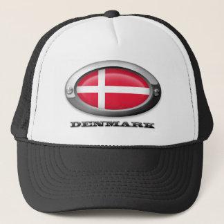 Flag of Denmark in Steel Frame Trucker Hat