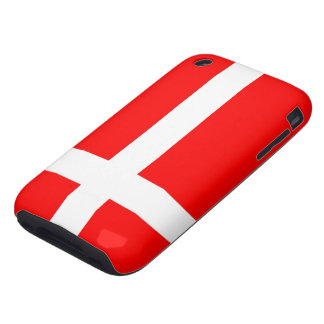 Flag of Denmark iPhone 3G/3GS Cases Tough iPhone 3 Cases