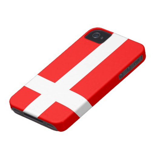Flag of Denmark iPhone 4/4S Cases Case-Mate iPhone 4 Cases