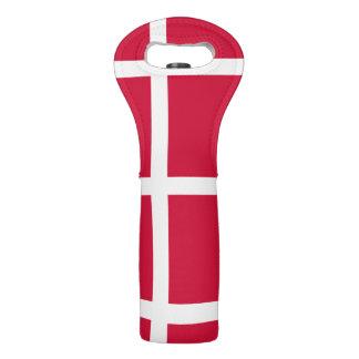 Flag of Denmark or Danish Cloth Wine Bag