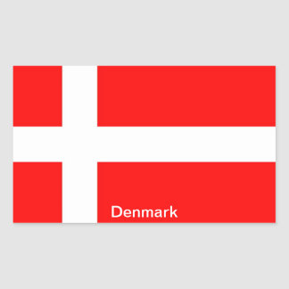Flag of Denmark Rectangular Sticker