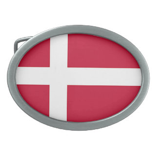 Flag of Denmark - Scandinavian cross Oval Belt Buckle