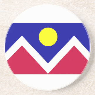 Flag of Denver Colorado Drink Coaster