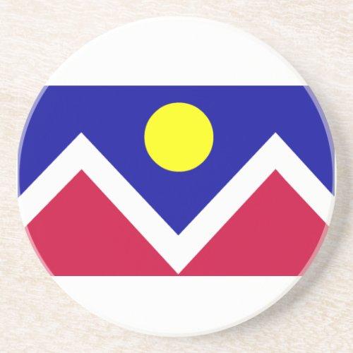 Flag of Denver Colorado Drink Coaster