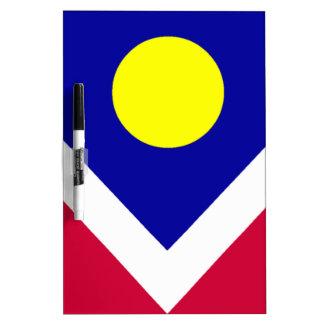 Flag of Denver Colorado Dry-Erase Board