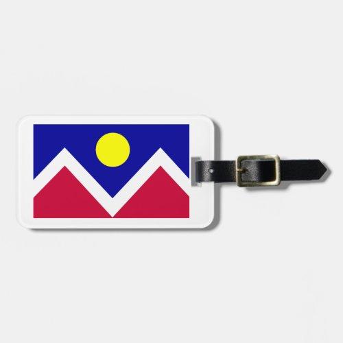 Flag of Denver Colorado Luggage Tag