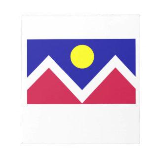 Flag of Denver Colorado Memo Notepads