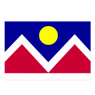 Flag of Denver Colorado Postcard