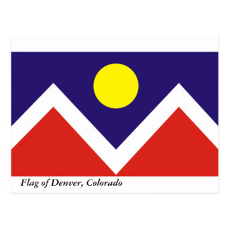 Flag of Denver Postcard
