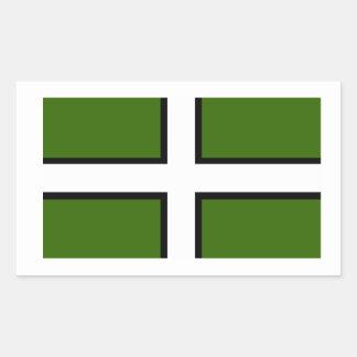 Flag of Devon Rectangular Sticker