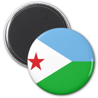 Flag of Djibouti Fridge Magnet