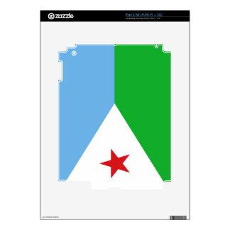 Flag of Djibouti iPad 2 Skin