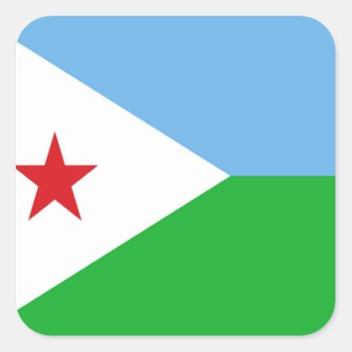 Flag of Djibouti Square Sticker