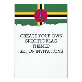 Flag of Dominica Card
