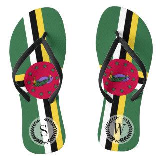 Flag of Dominica Flip Flops