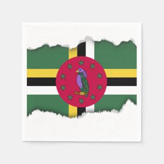 Flag of Dominica Paper Napkin
