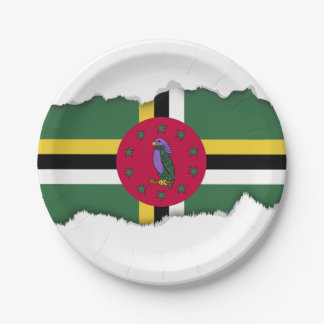 Flag of Dominica Paper Plate