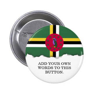 Flag of Dominica Pinback Button