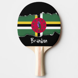 Flag of Dominica Ping Pong Paddle