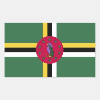 Flag of Dominica Rectangular Sticker