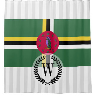 Flag of Dominica Shower Curtain