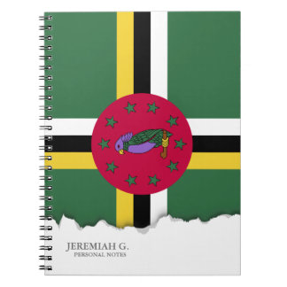 Flag of Dominica Spiral Notebook