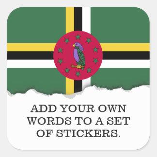 Flag of Dominica Square Sticker