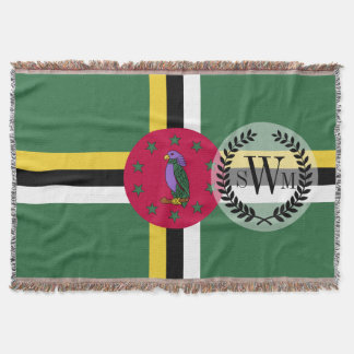 Flag of Dominica Throw Blanket
