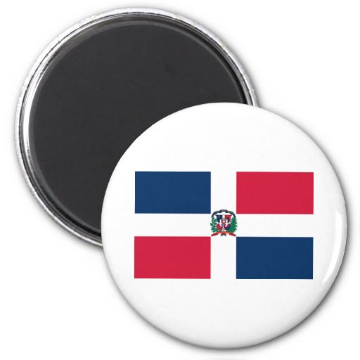 Flag of Dominican Republic 2 Inch Round Magnet