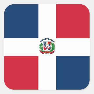 Flag of Dominican Republic Label