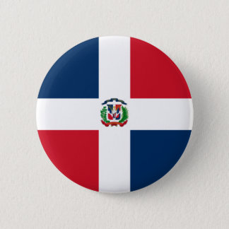 Flag of Dominican Republic on Pin / Button Badge