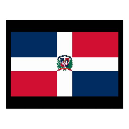 Flag of Dominican Republic Postcard