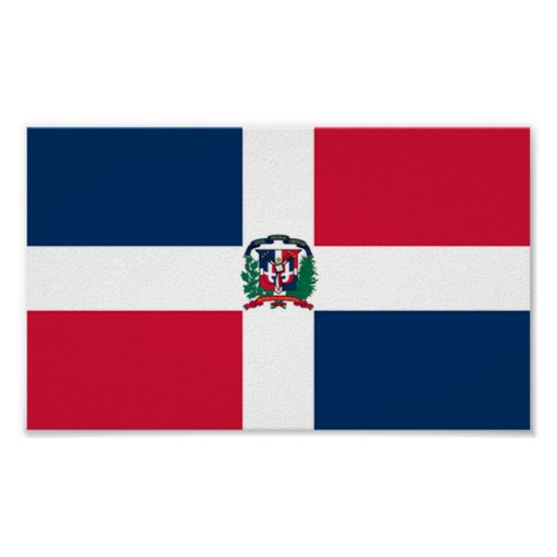 Flag of Dominican Republic Poster