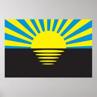 Flag of Donetsk Oblast, Ukraine Poster