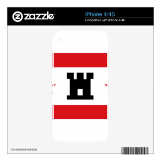 Flag of Drenthe iPhone 4S Decal