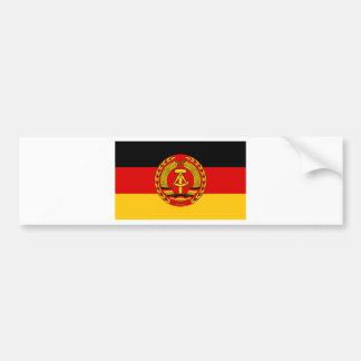 Flag of East Germany - Flagge der DDR (GDR) - NVA Bumper Sticker
