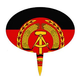 Flag of East Germany - Flagge der DDR (GDR) - NVA Cake Topper