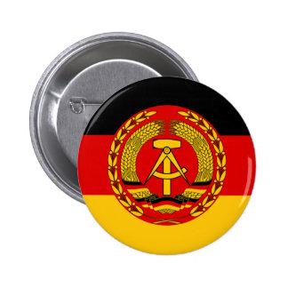 Flag of East Germany - Flagge der DDR (GDR) - NVA Pinback Button