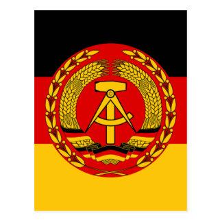 Flag of East Germany - Flagge der DDR (GDR) - NVA Postcard